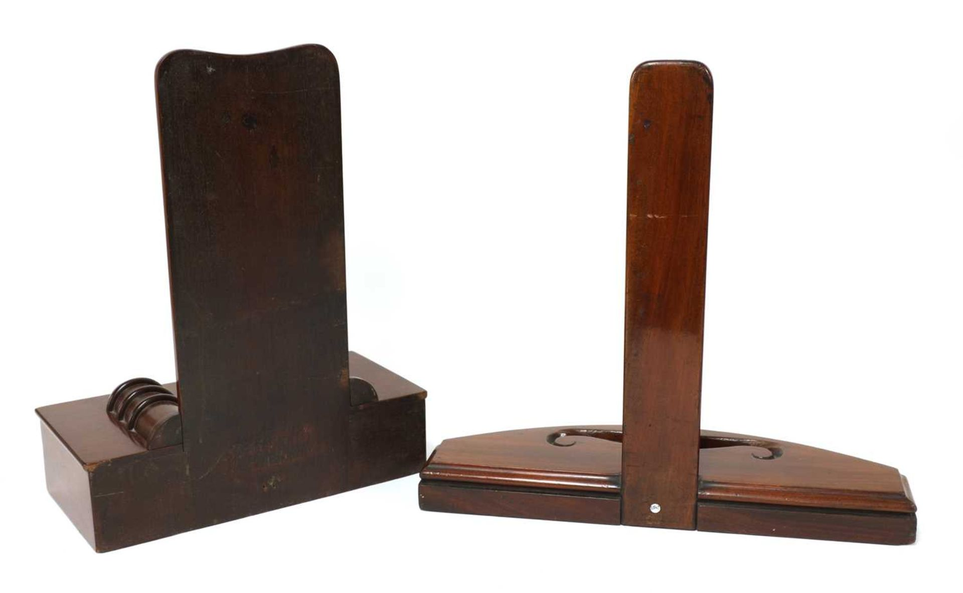 Two mahogany plate stands, - Image 2 of 2