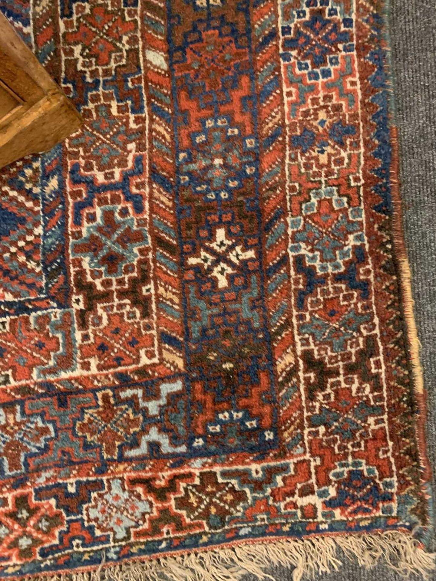 A Persian Khamseh carpet, - Image 6 of 15