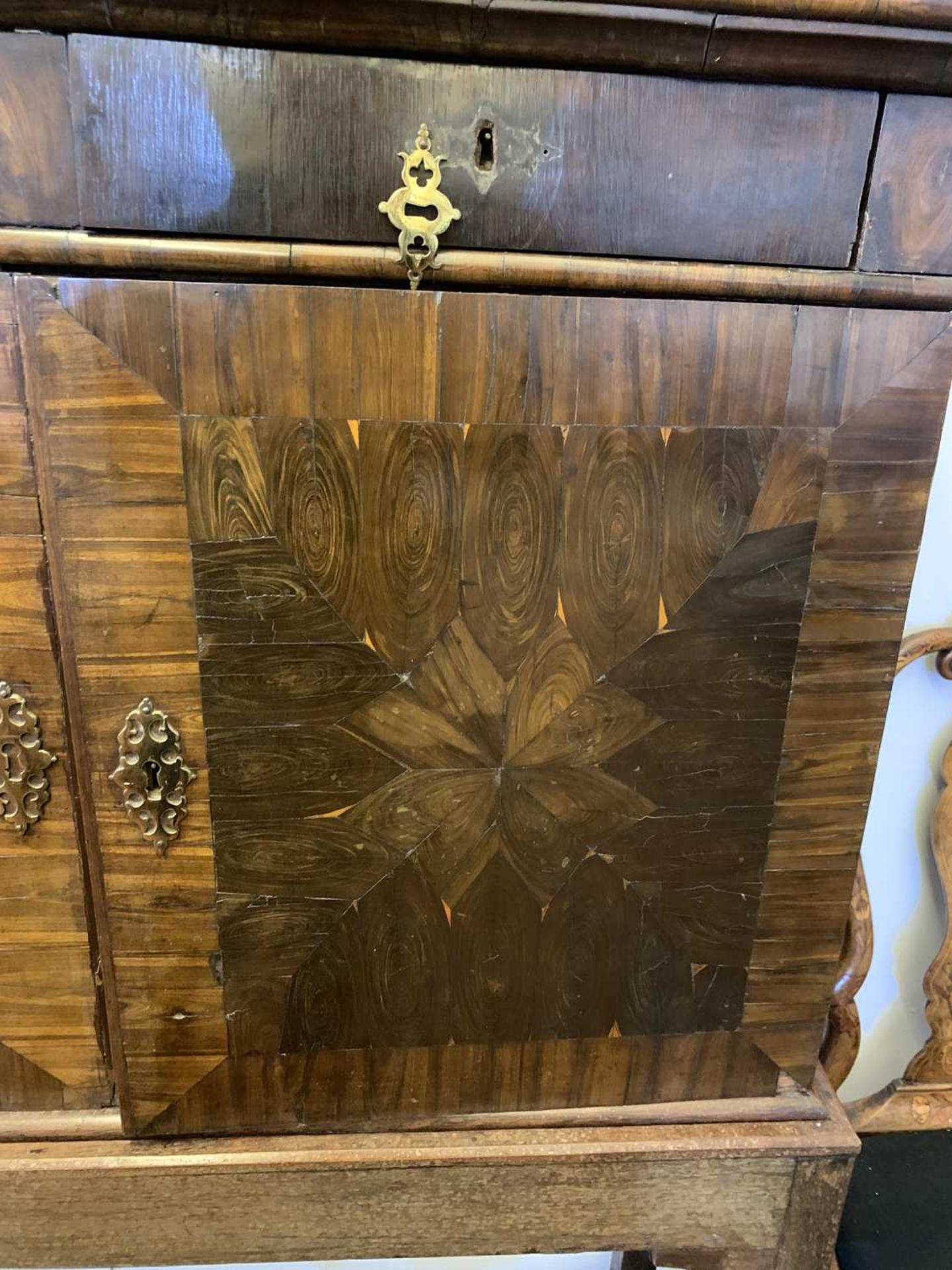 A Queen Anne cocus wood cabinet, - Image 24 of 42