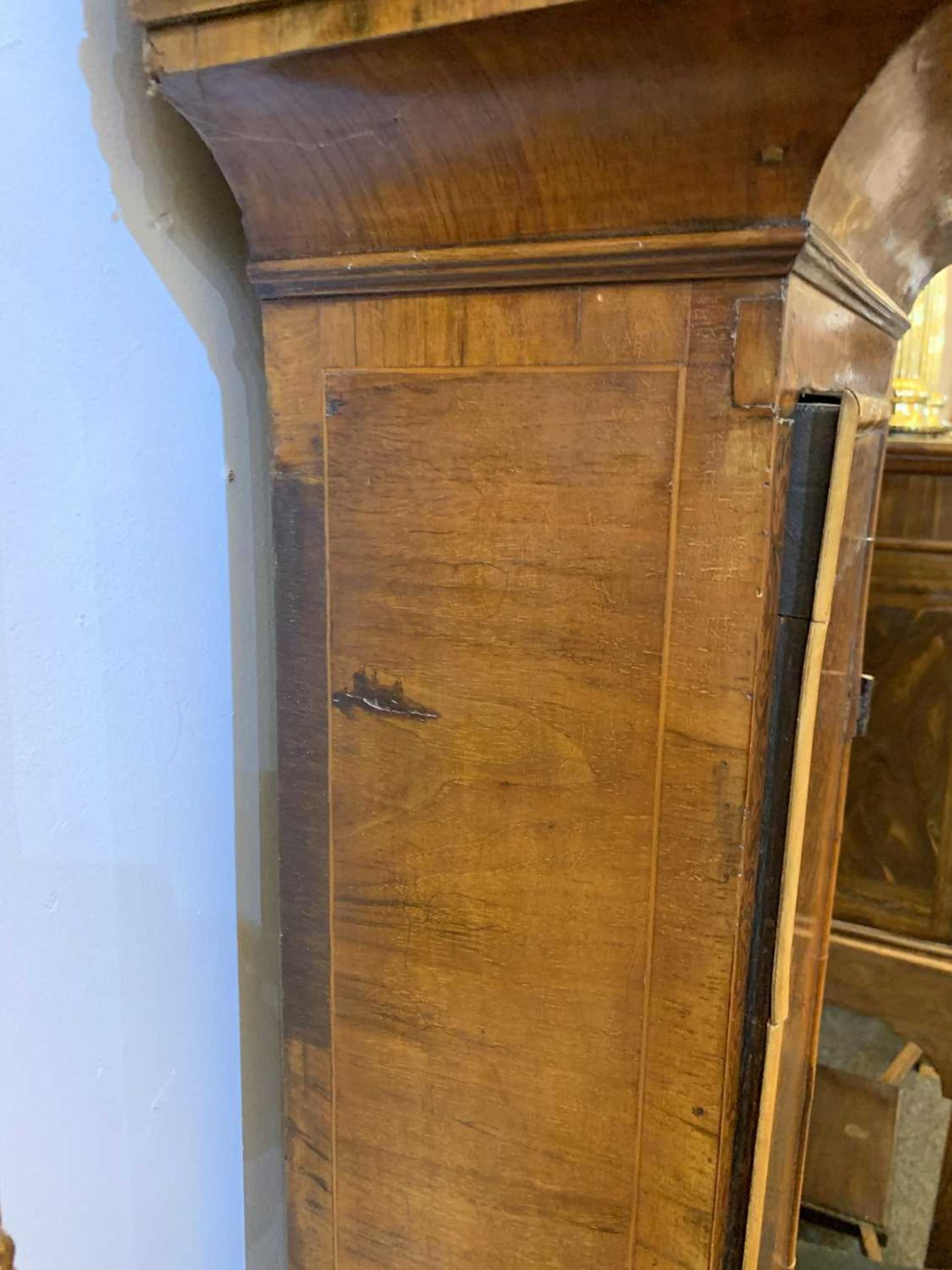 A seaweed marquetry and walnut longcase clock, - Image 12 of 24