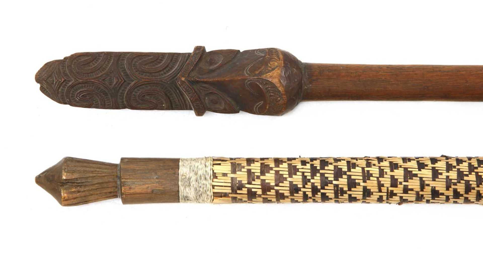A Maori taiaha dance paddle, - Image 2 of 16