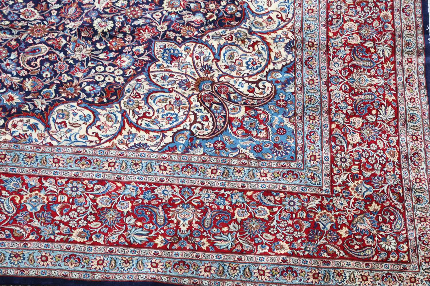 A large Persian Khorassan carpet, - Image 3 of 17