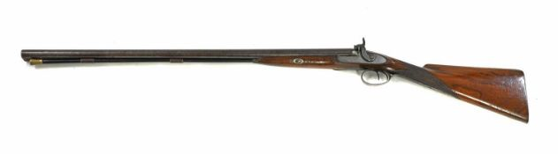 A 16 bore muzzle loading double-barrelled percussion shotgun