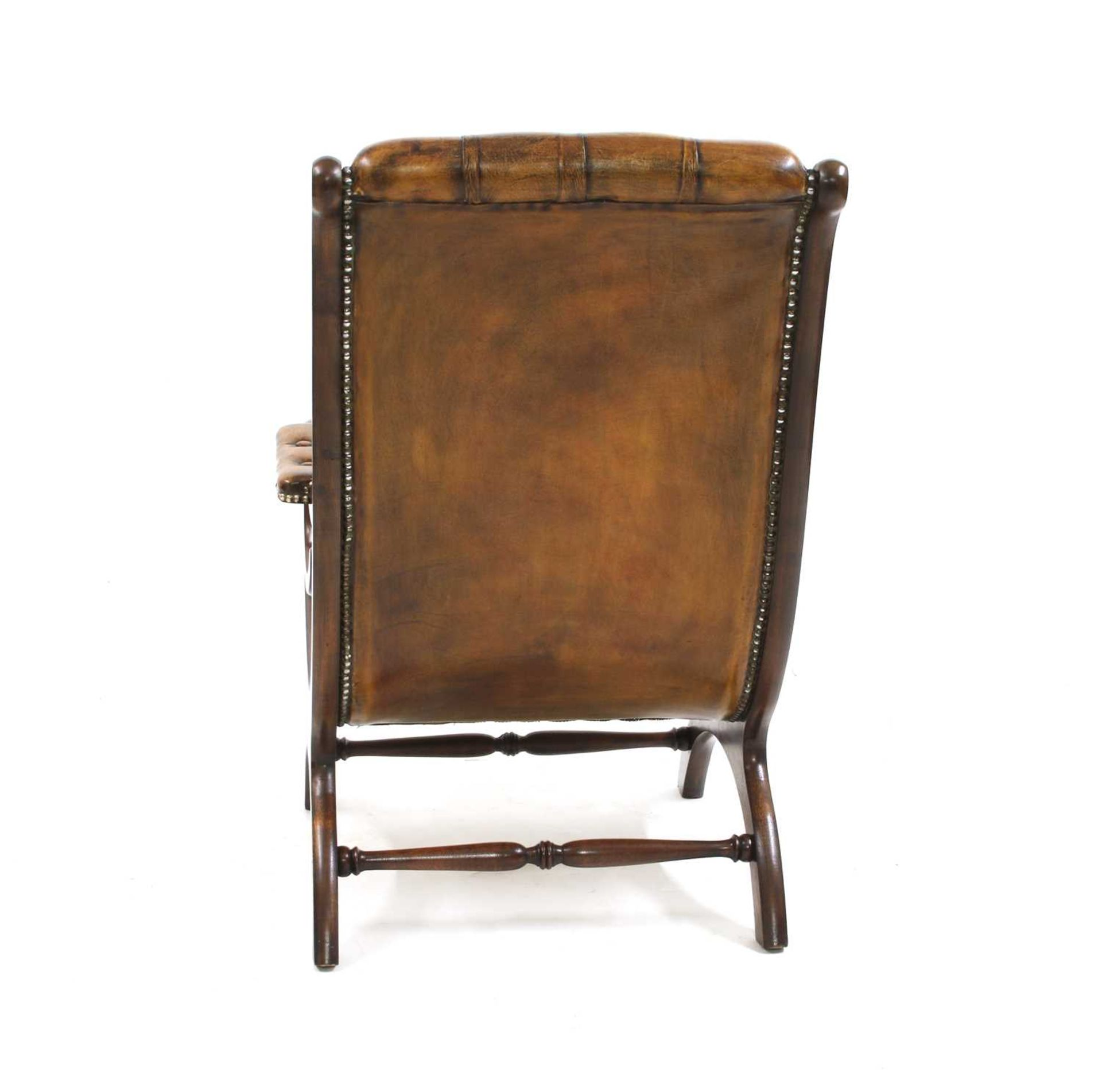 A William IV-style mahogany armchair, - Image 3 of 5