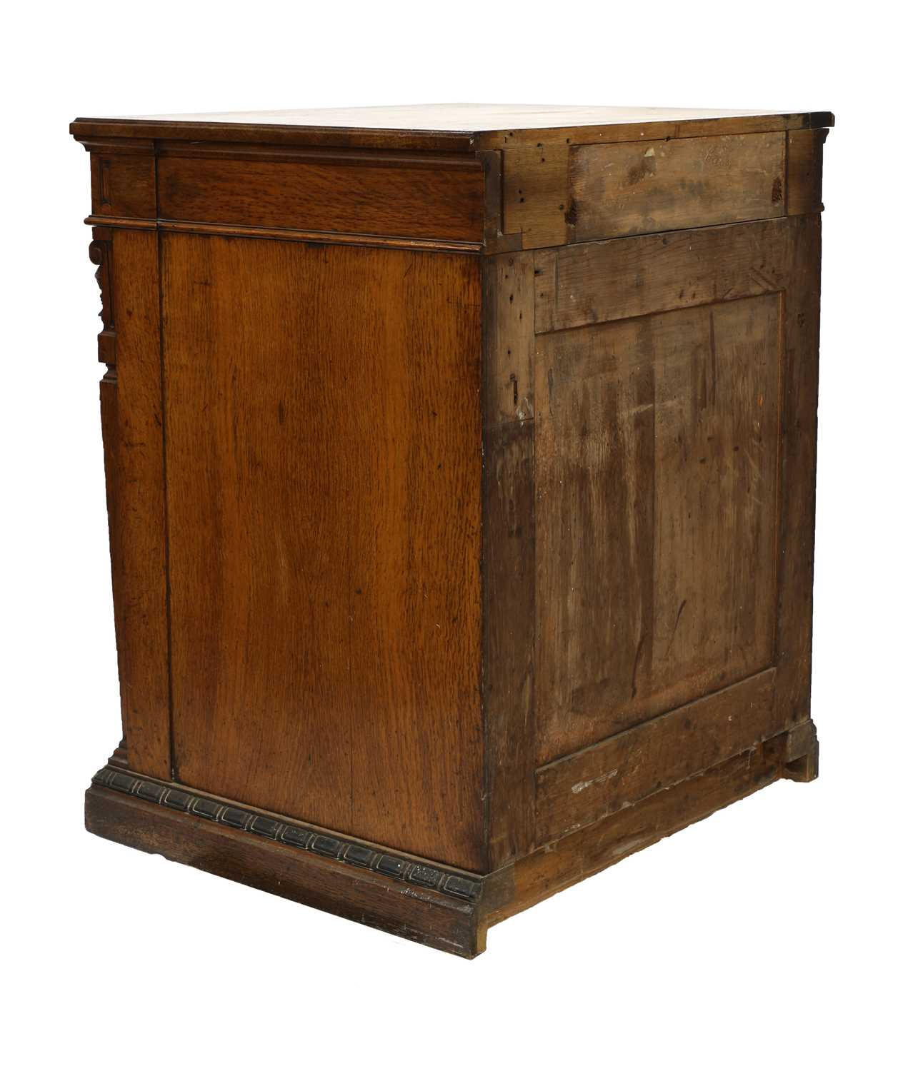 A Victorian oak and ebonised dining room pedestal, - Image 4 of 6