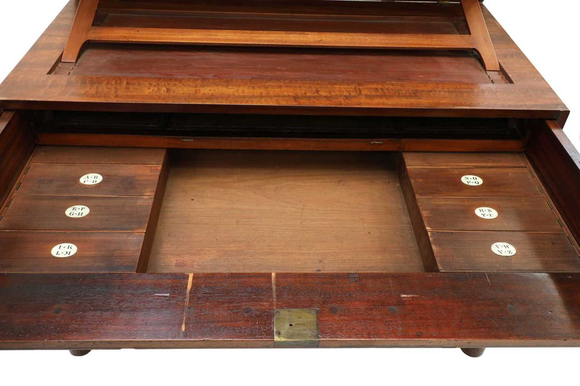 A George III mahogany architect's desk/secretaire, - Image 8 of 30