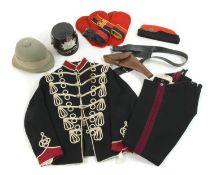 Various military uniform and headgear,