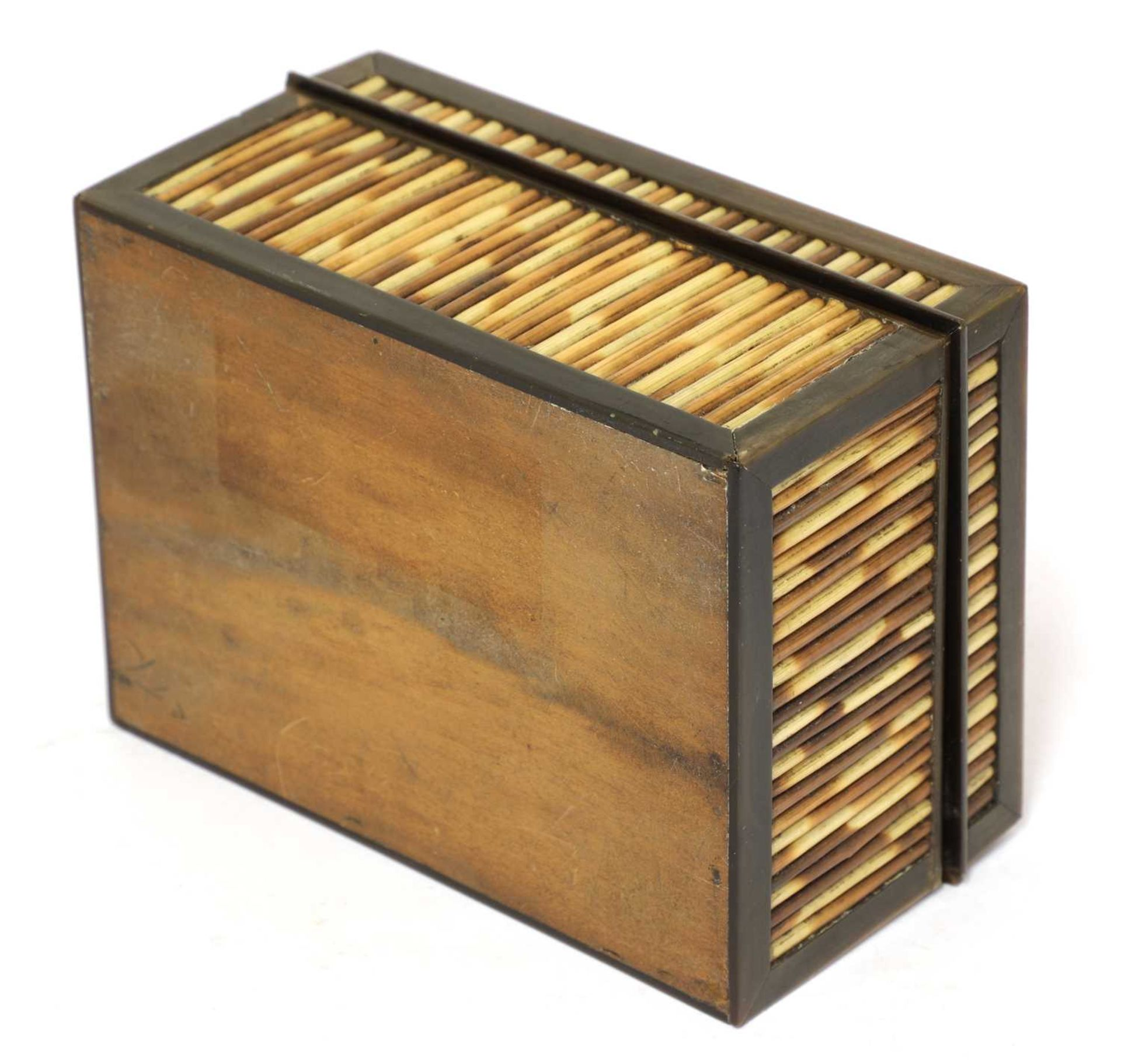 A Ceylonese porcupine quill box and cover, - Image 3 of 3