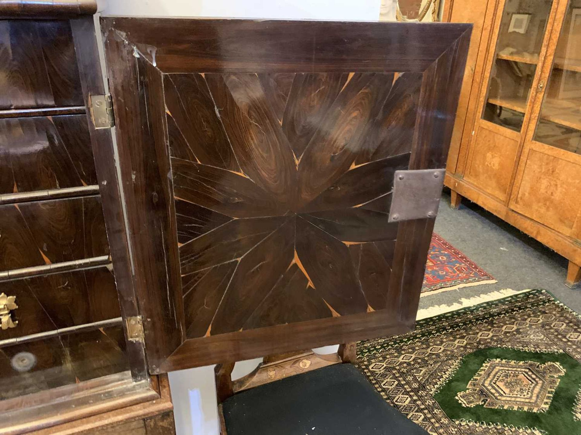 A Queen Anne cocus wood cabinet, - Image 17 of 42