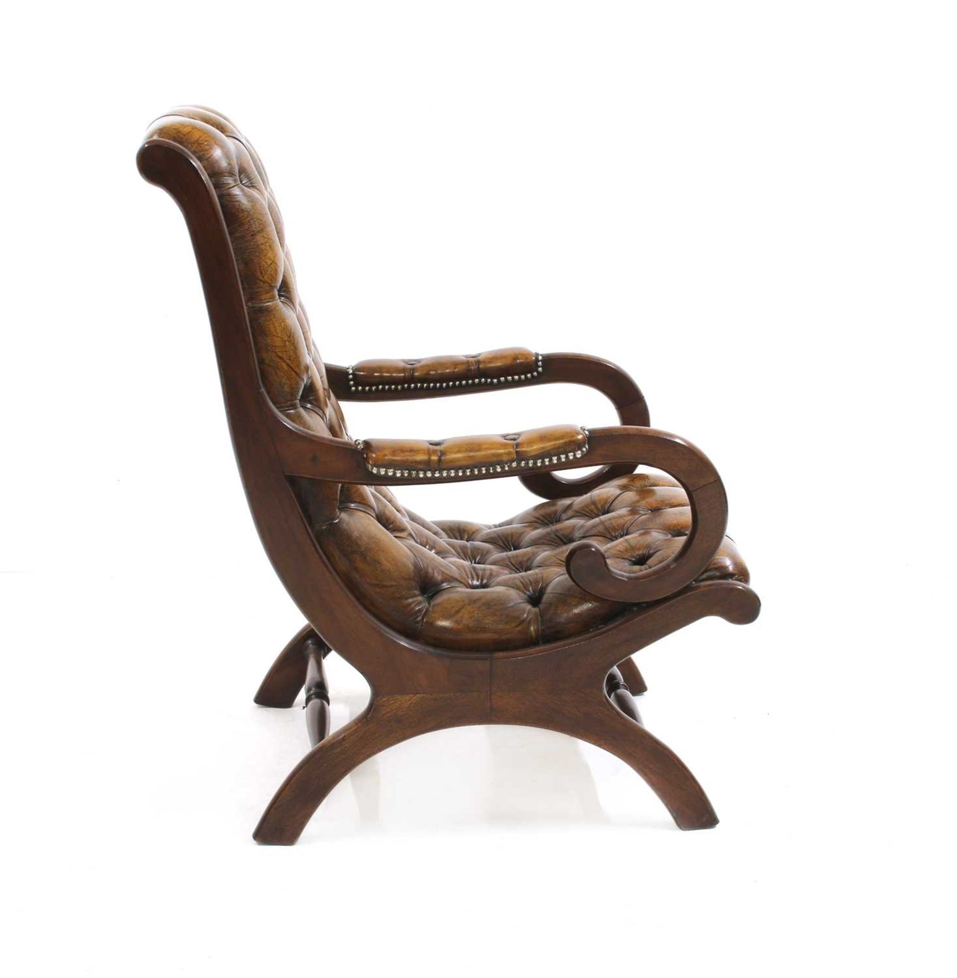 A William IV-style mahogany armchair, - Image 4 of 5