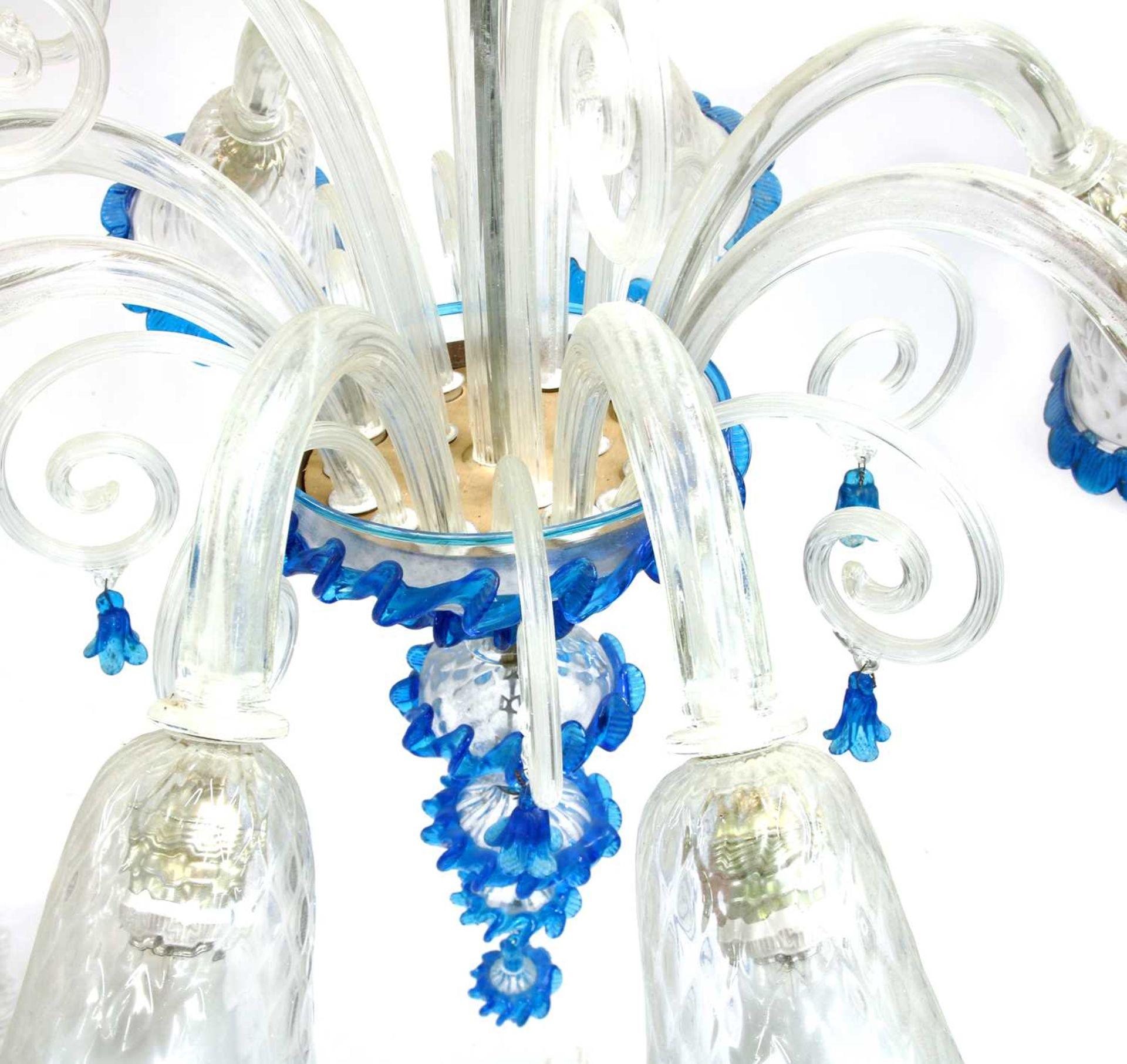 A Murano glass chandelier, - Image 3 of 5