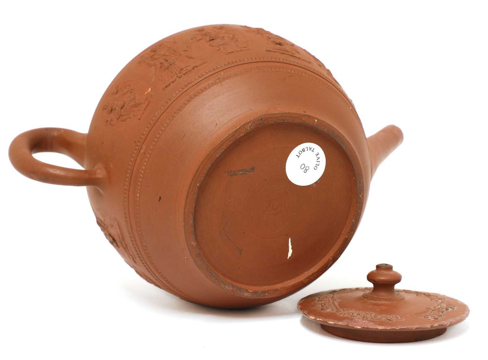 A Staffordshire redware globular teapot and cover, - Image 4 of 4