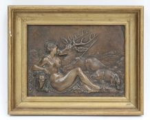 A bronze plaque,