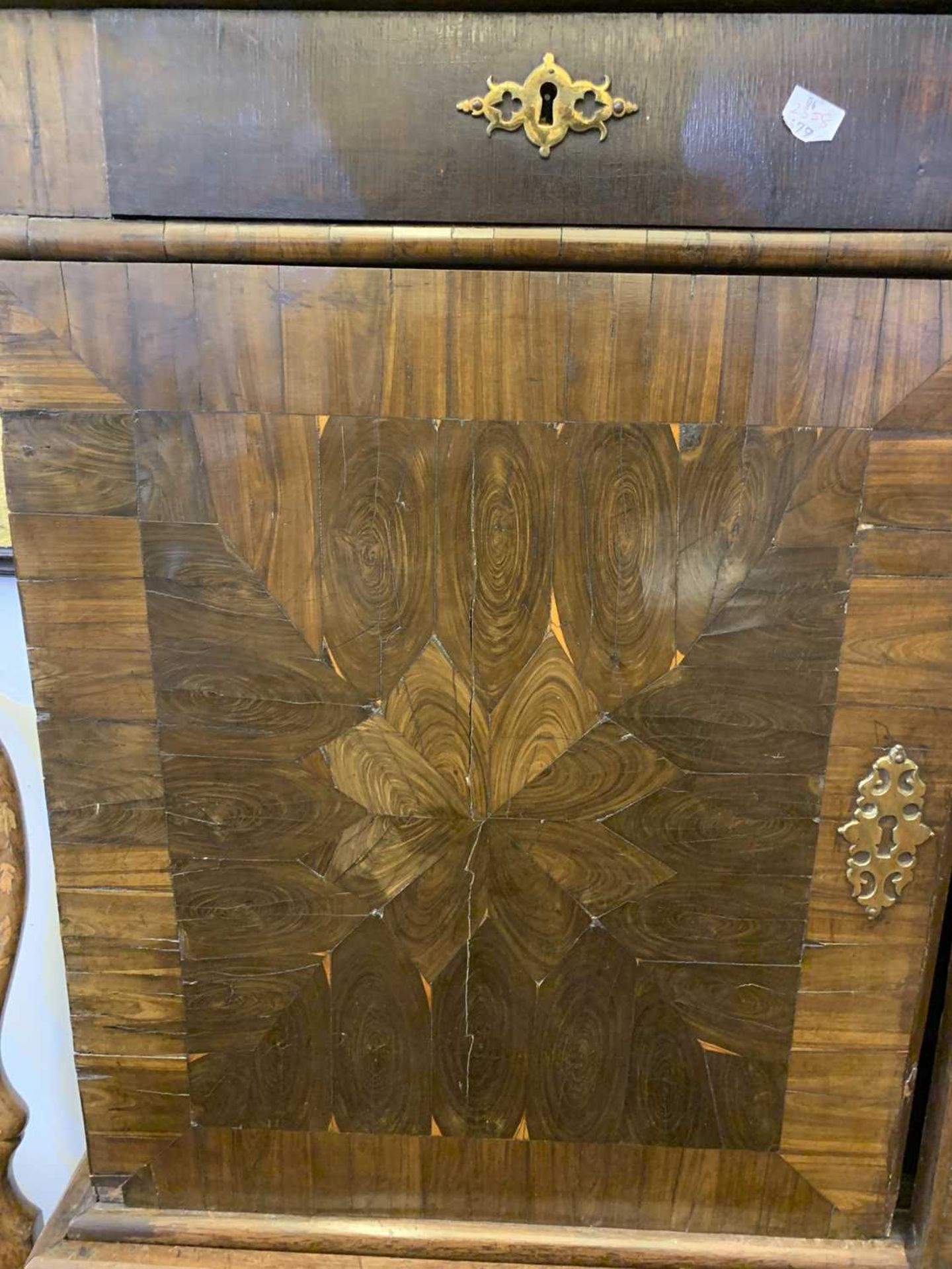 A Queen Anne cocus wood cabinet, - Image 5 of 42