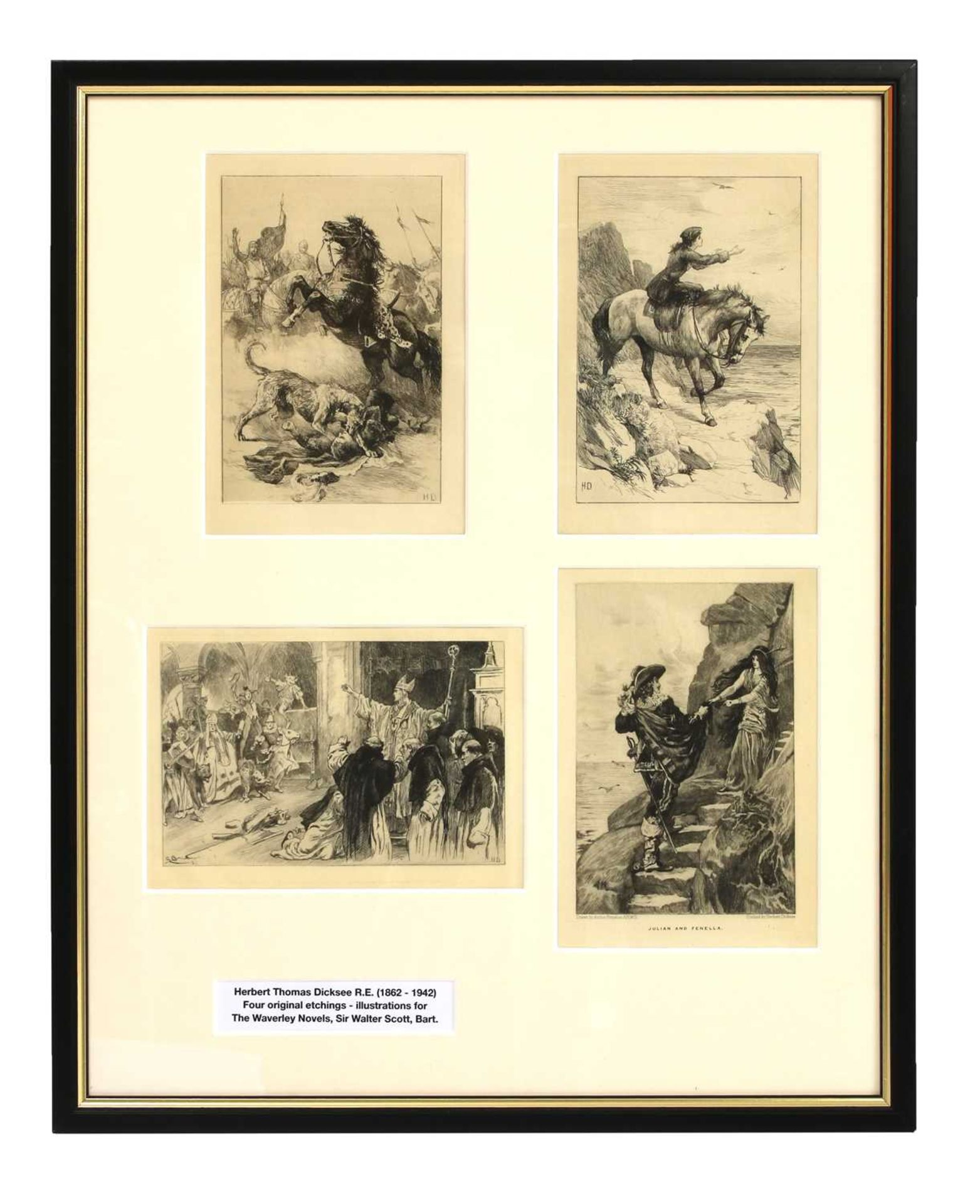 Herbert Thomas Dicksee RE (1862-1942) - Image 2 of 9