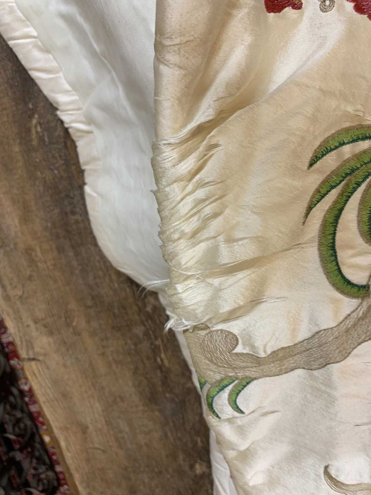 Three pairs of lined and interlined silk curtains, - Image 54 of 62