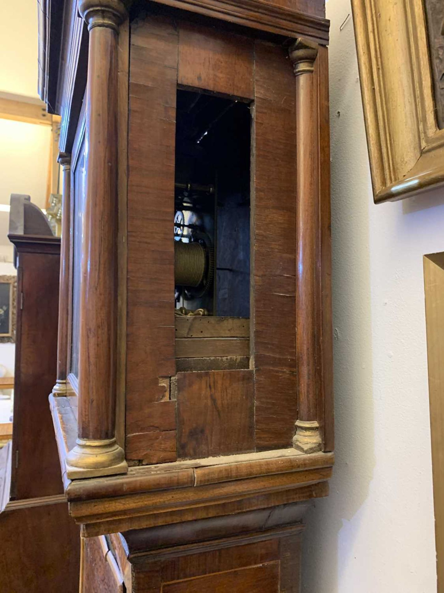 A seaweed marquetry and walnut longcase clock, - Image 15 of 24