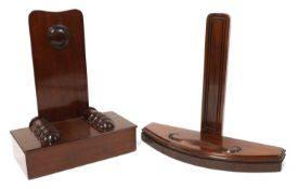 Two mahogany plate stands,