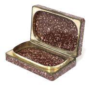 A porphyry box,