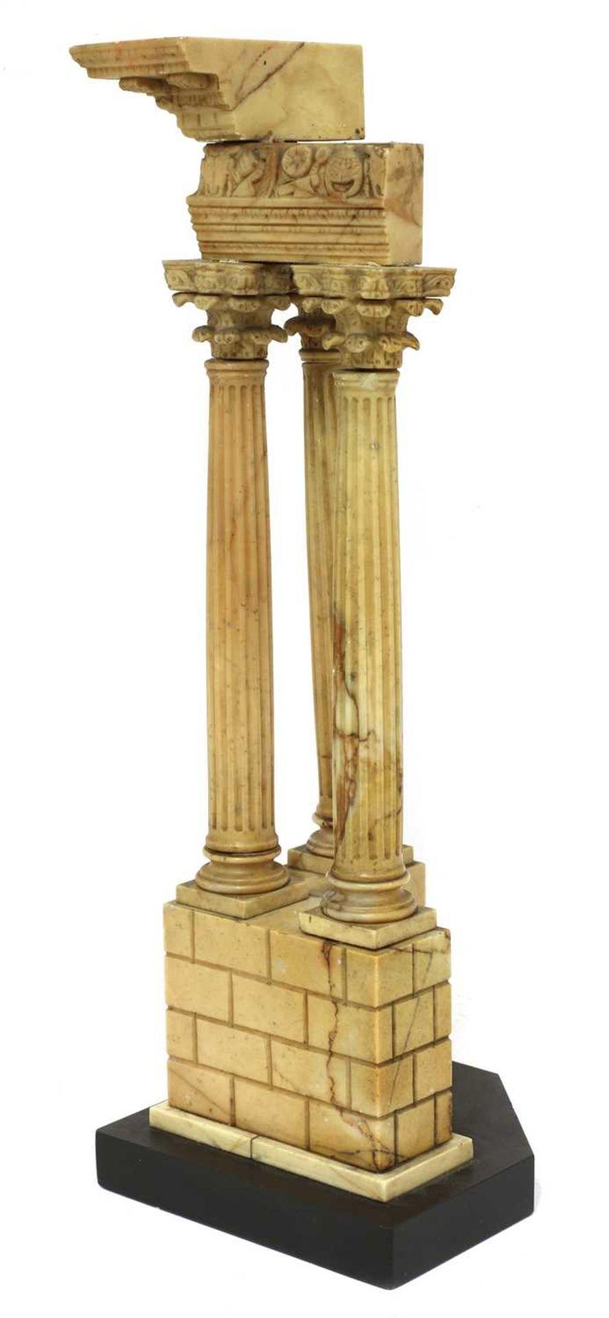 An Italian grand tour giallo antico marble souvenir, - Image 3 of 4