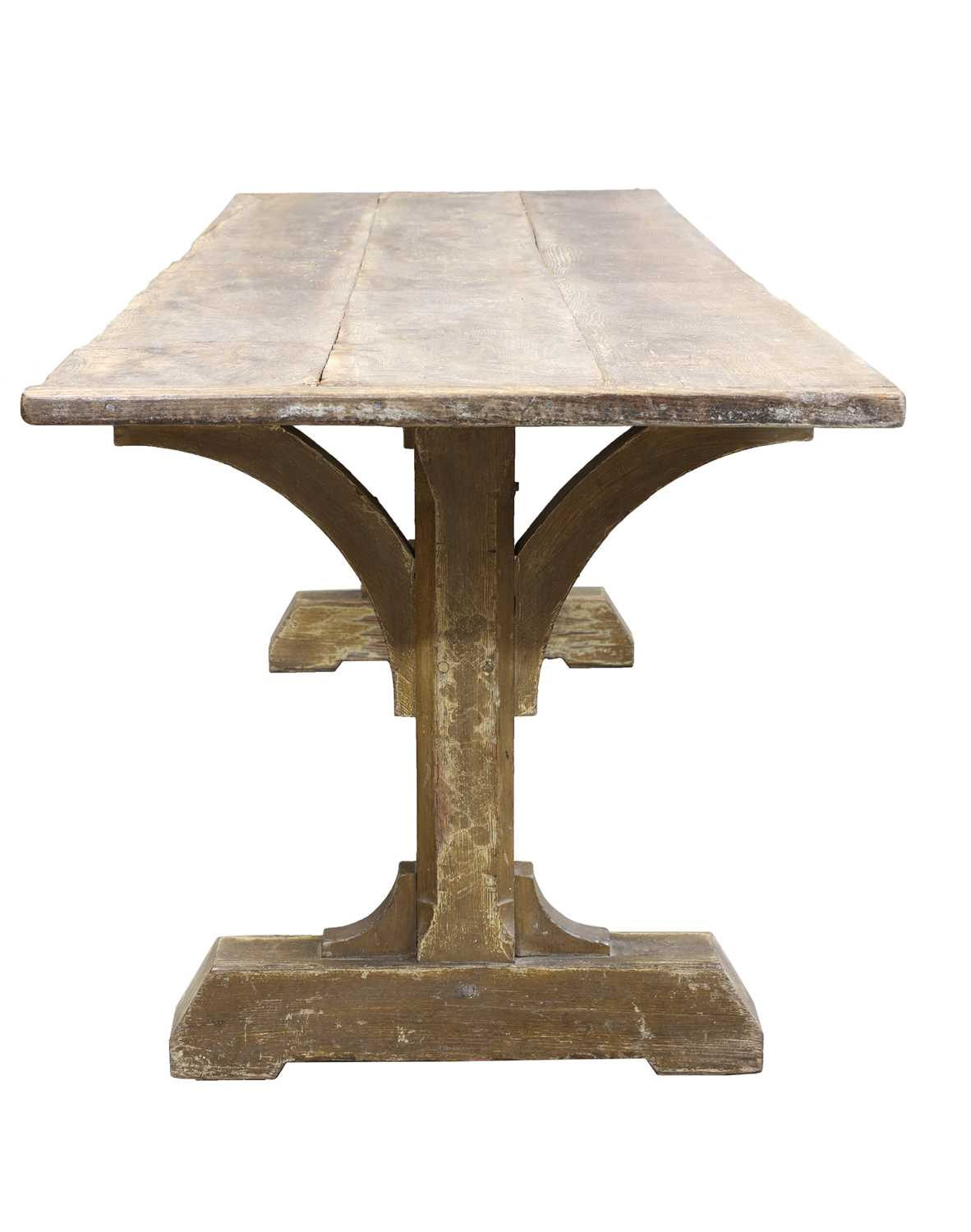 An elm and pine refectory table, - Image 3 of 3