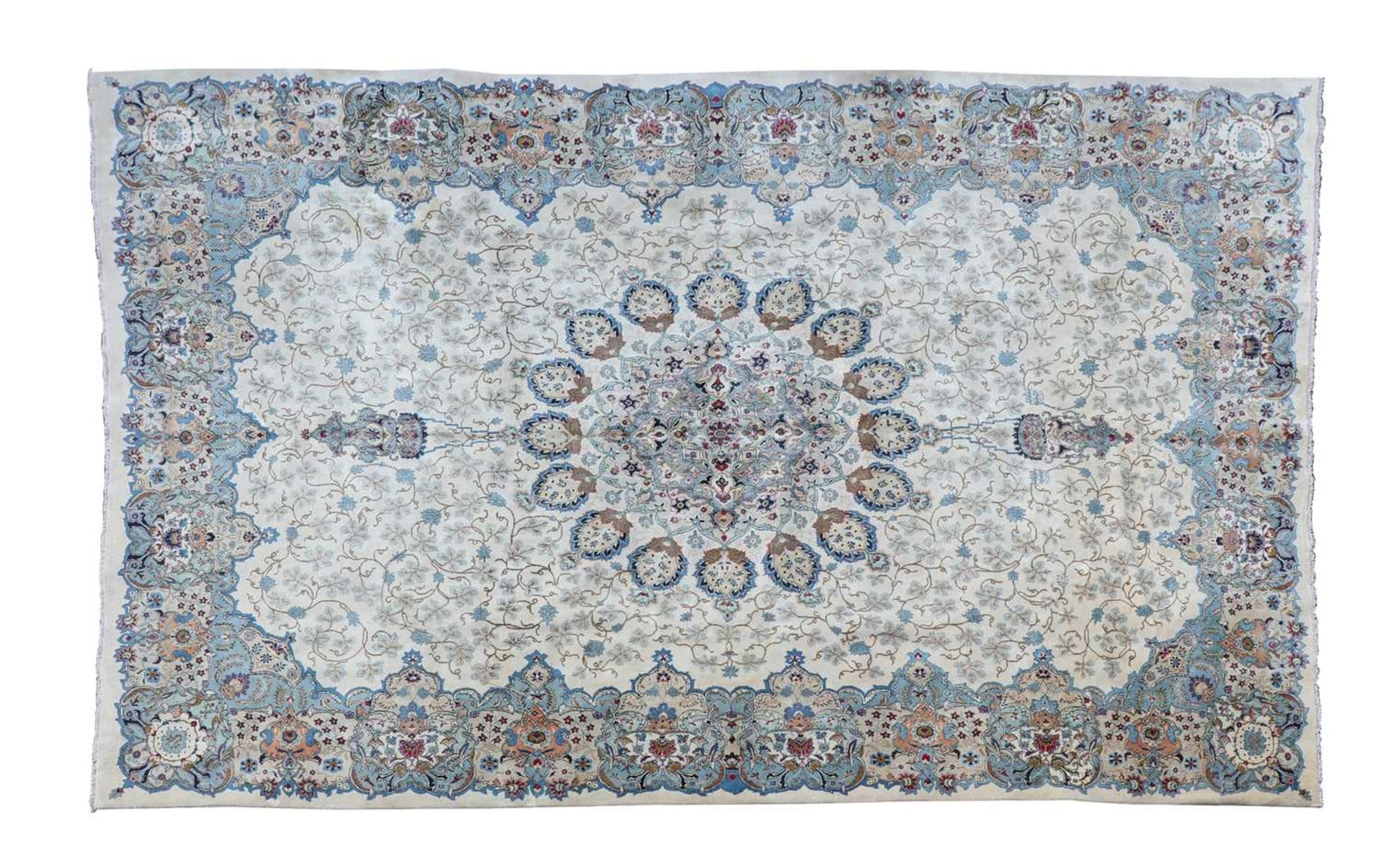 A Persian Kashan carpet,