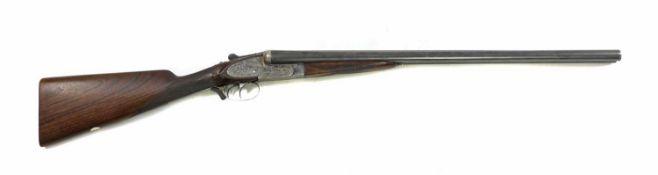 An AYA 'XV' 12 bore double-barrelled sidelock ejector shotgun,