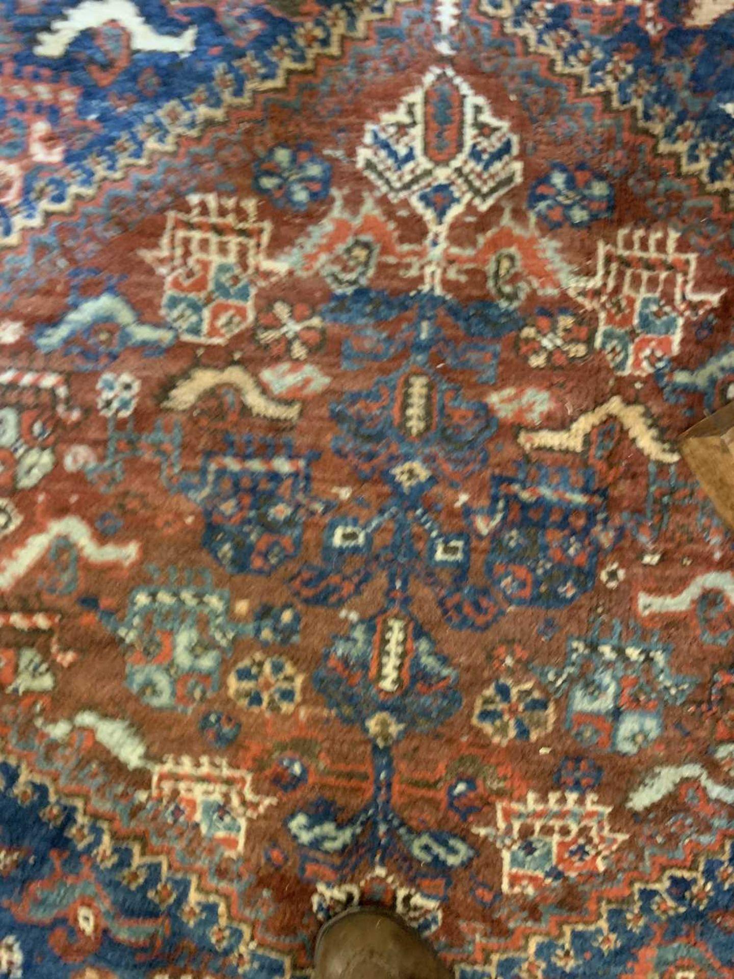 A Persian Khamseh carpet, - Image 10 of 15