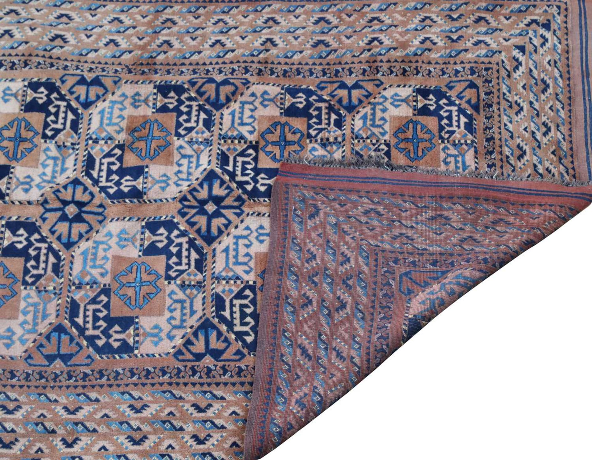 A Central Asian Ersari rug, - Image 2 of 2