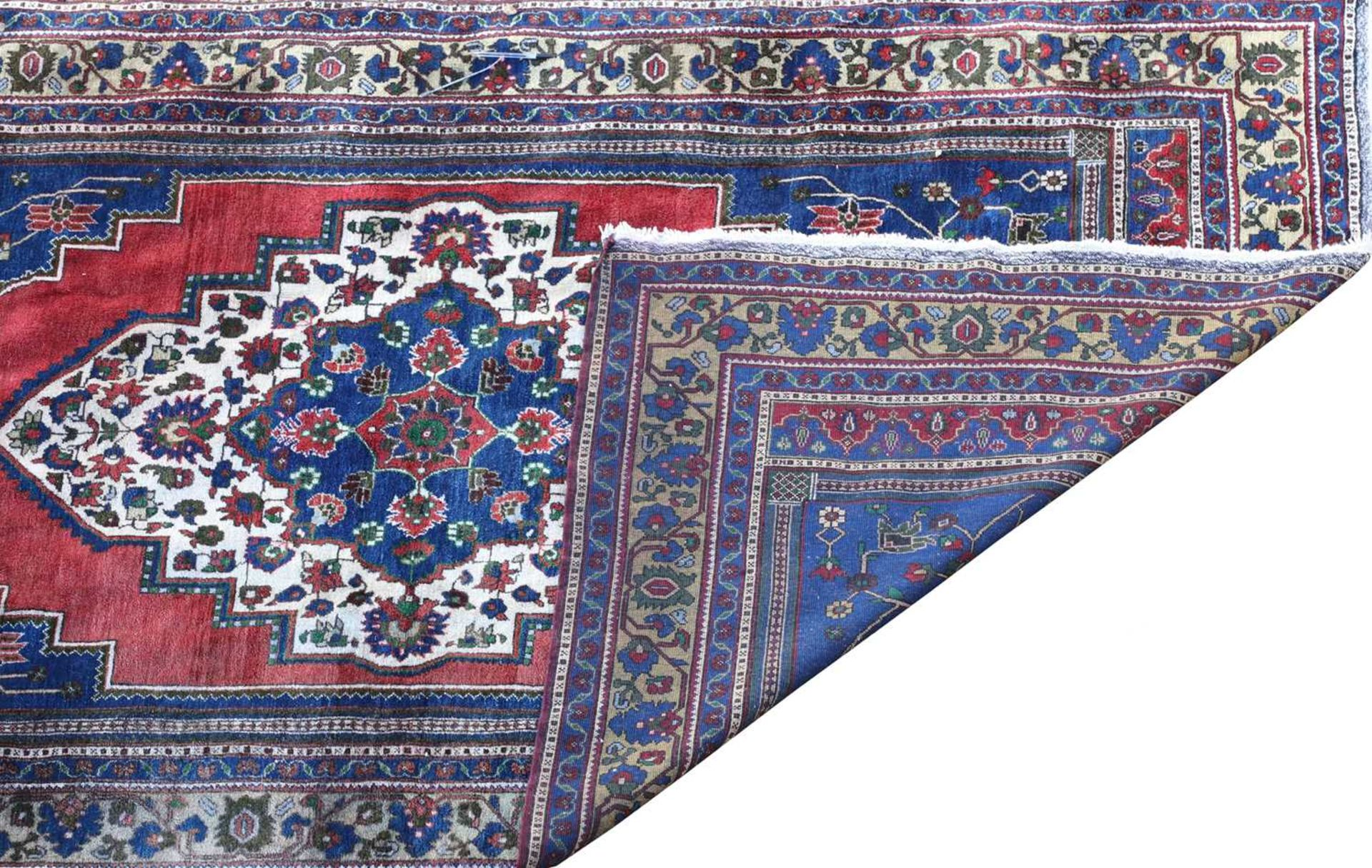 An Anatolian blue ground carpet, - Image 2 of 4