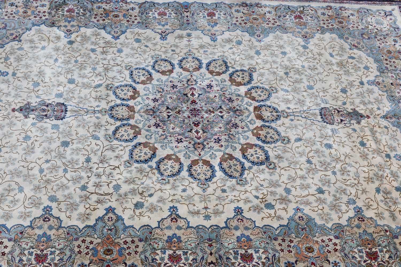 A Persian Kashan carpet, - Image 2 of 3