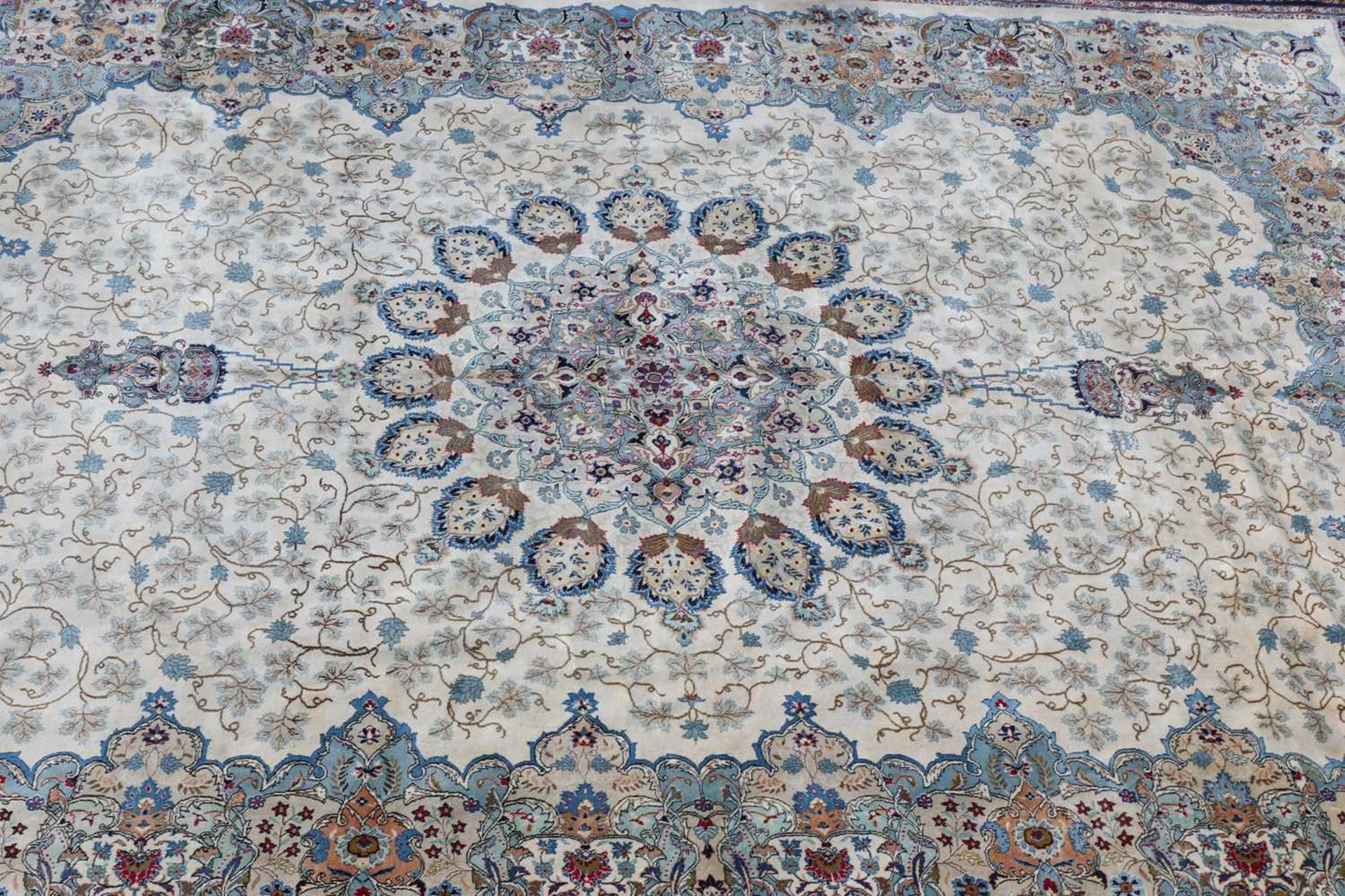 A Persian Kashan carpet, - Image 2 of 3