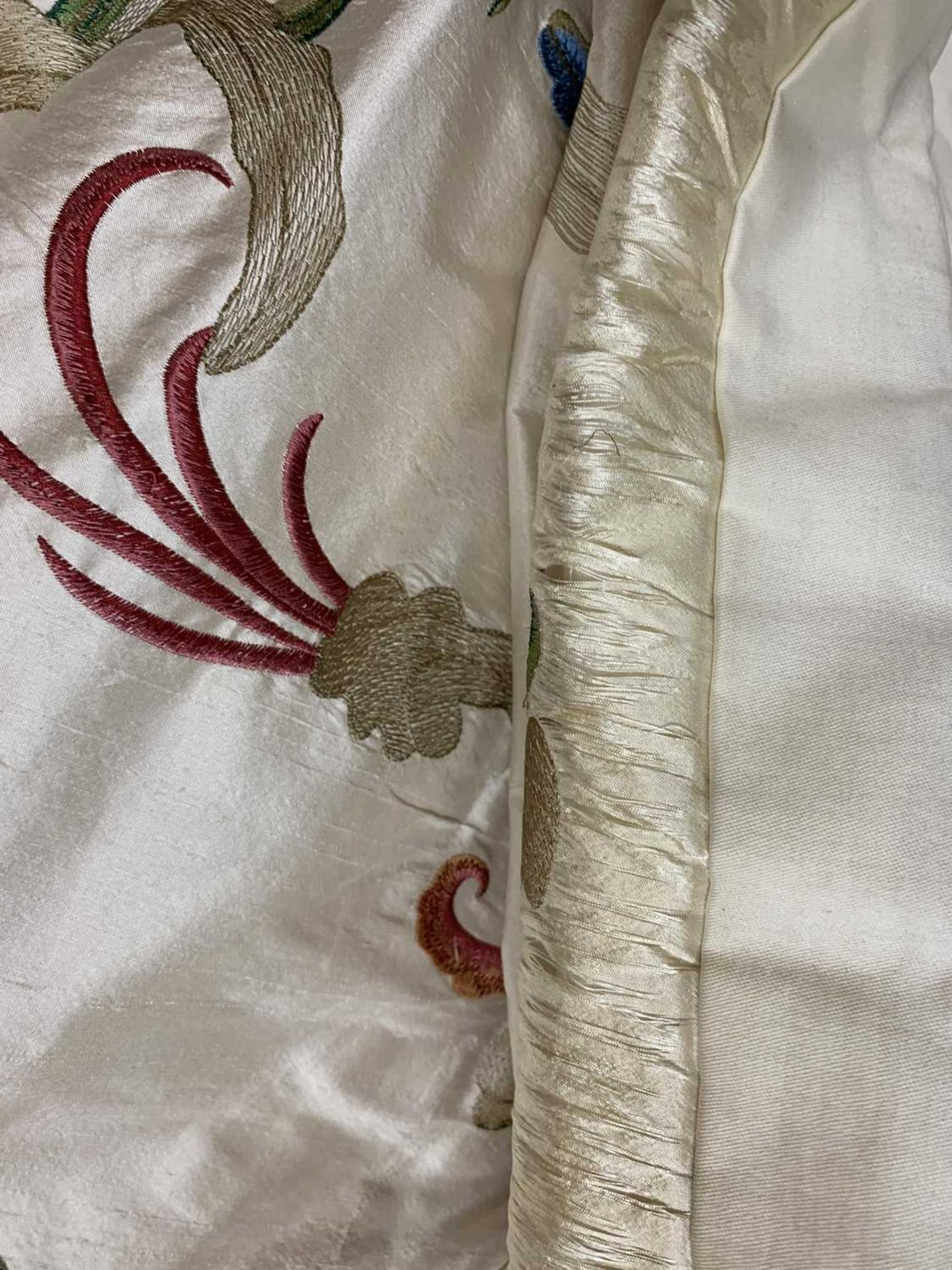 Three pairs of lined and interlined silk curtains, - Image 51 of 62
