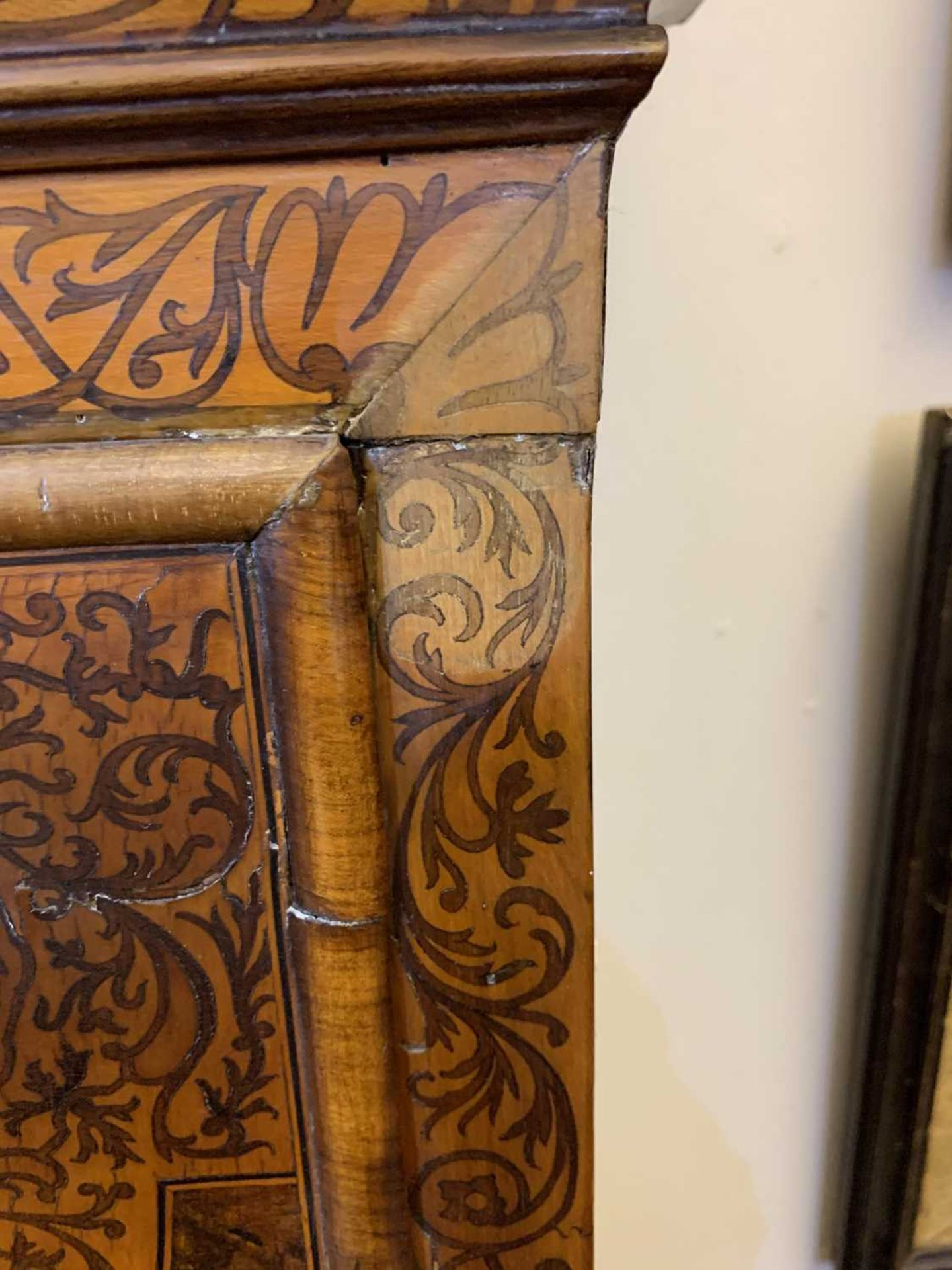 A seaweed marquetry and walnut longcase clock, - Image 6 of 24