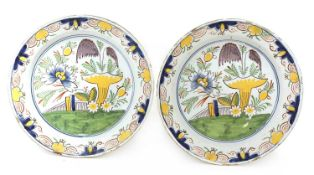 A pair of Dutch delft chargers,