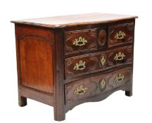 A French provincial walnut commode,