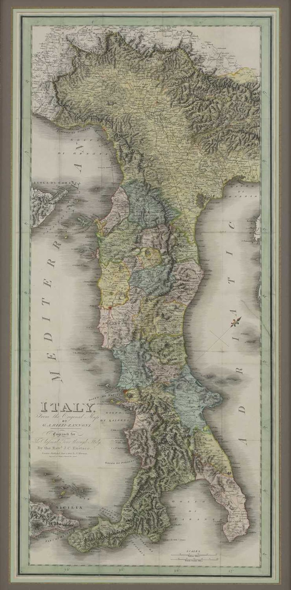 'Italy From The Original Map by G.A. Rizzi-Zannoni,