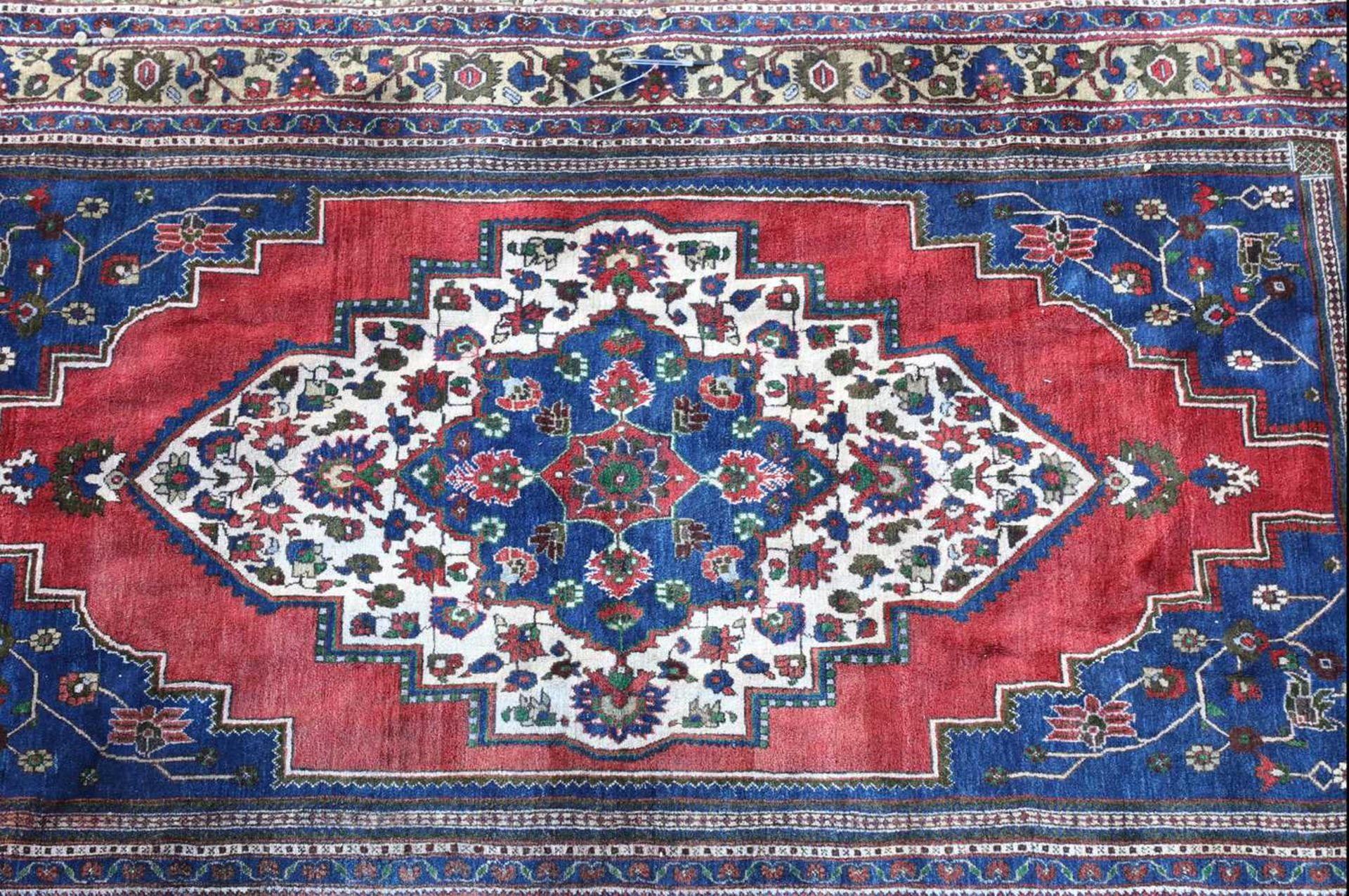 An Anatolian blue ground carpet, - Image 4 of 4