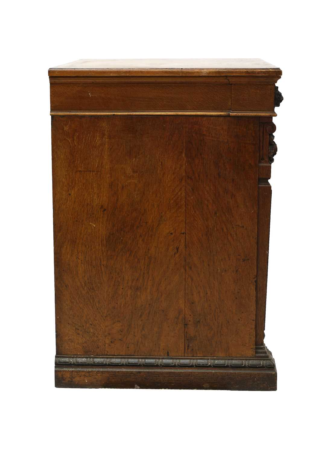 A Victorian oak and ebonised dining room pedestal, - Image 3 of 6