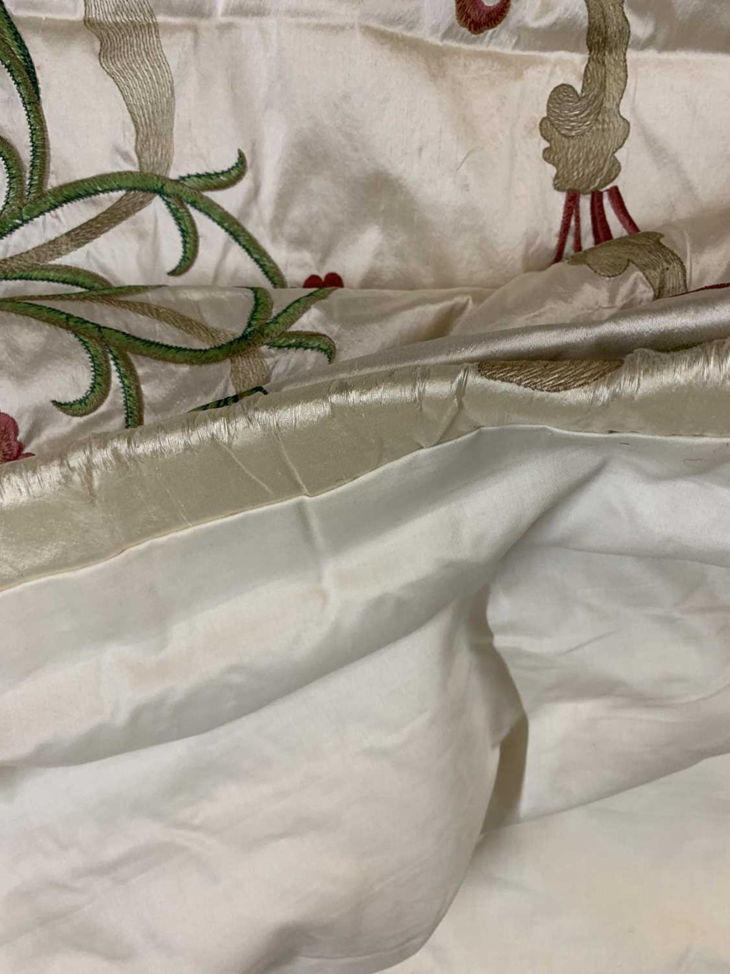 Three pairs of lined and interlined silk curtains, - Image 49 of 62