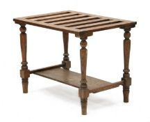 A country oak luggage stand,