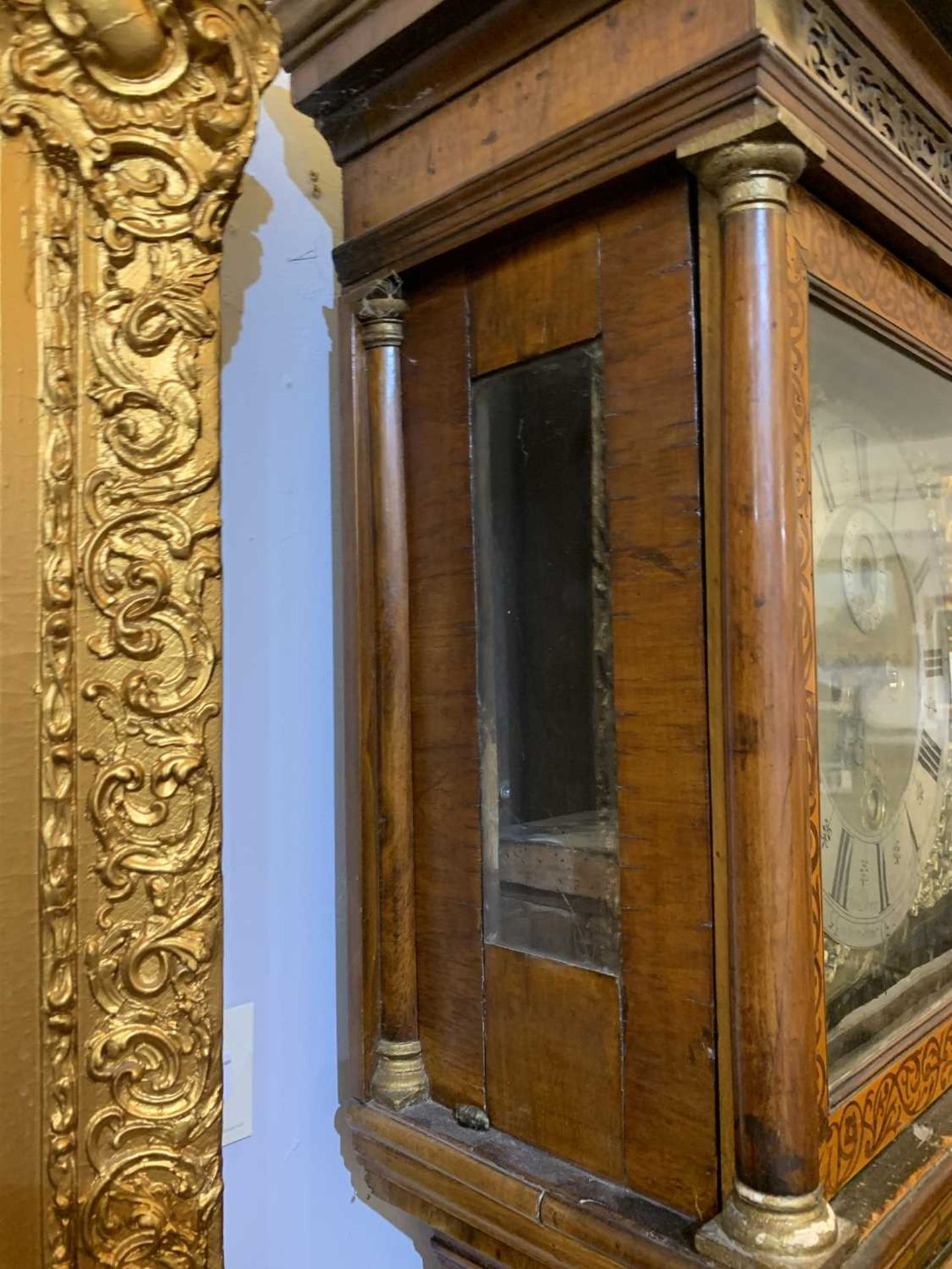 A seaweed marquetry and walnut longcase clock, - Image 13 of 24