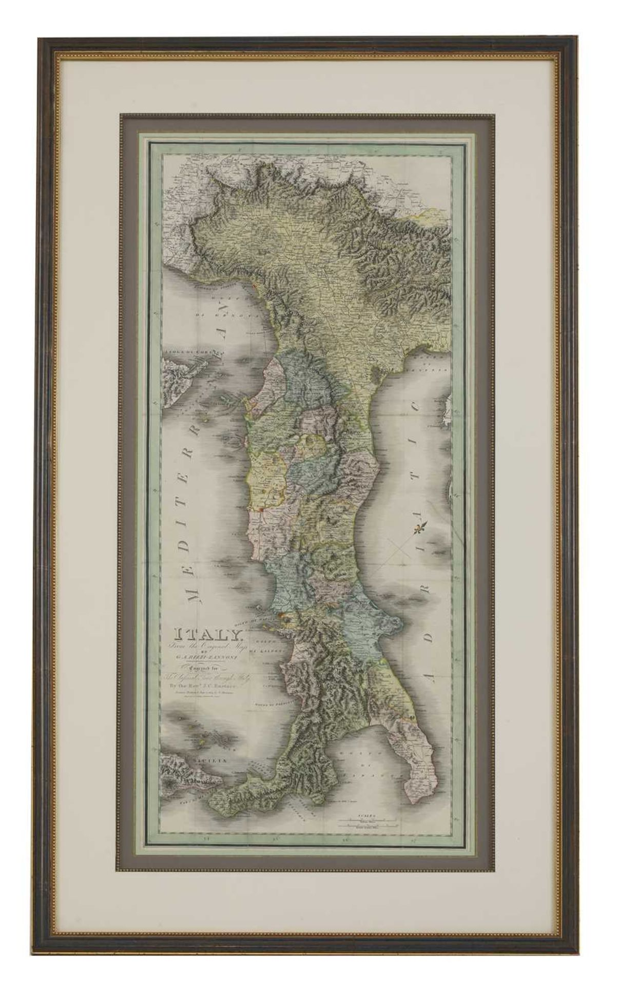 'Italy From The Original Map by G.A. Rizzi-Zannoni, - Image 2 of 3
