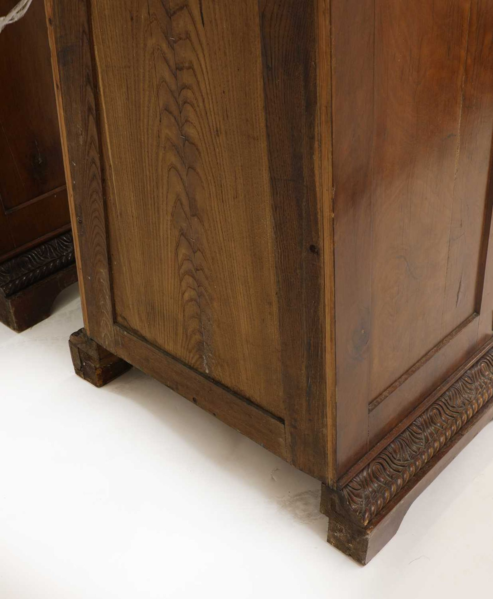 A pair of Victorian mahogany library bookcase pedestals, - Image 7 of 13
