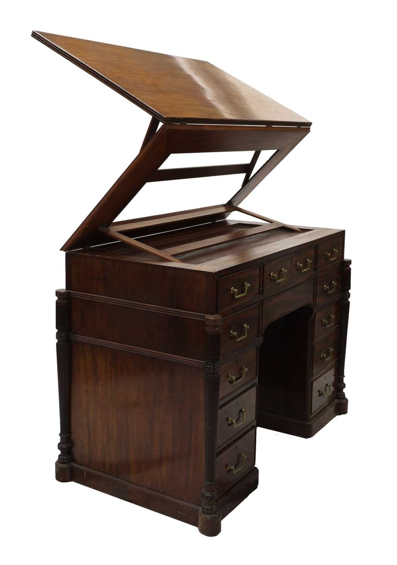 A George III mahogany architect's desk/secretaire, - Image 7 of 30