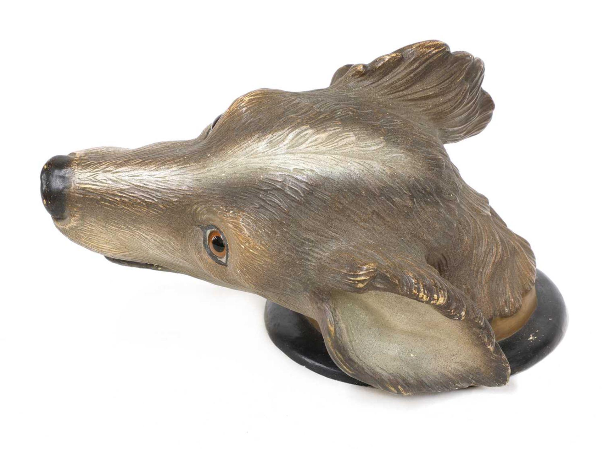 A Finnish terracotta dog's head, - Image 2 of 4