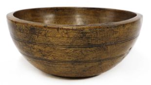 A large sycamore dairy bowl,