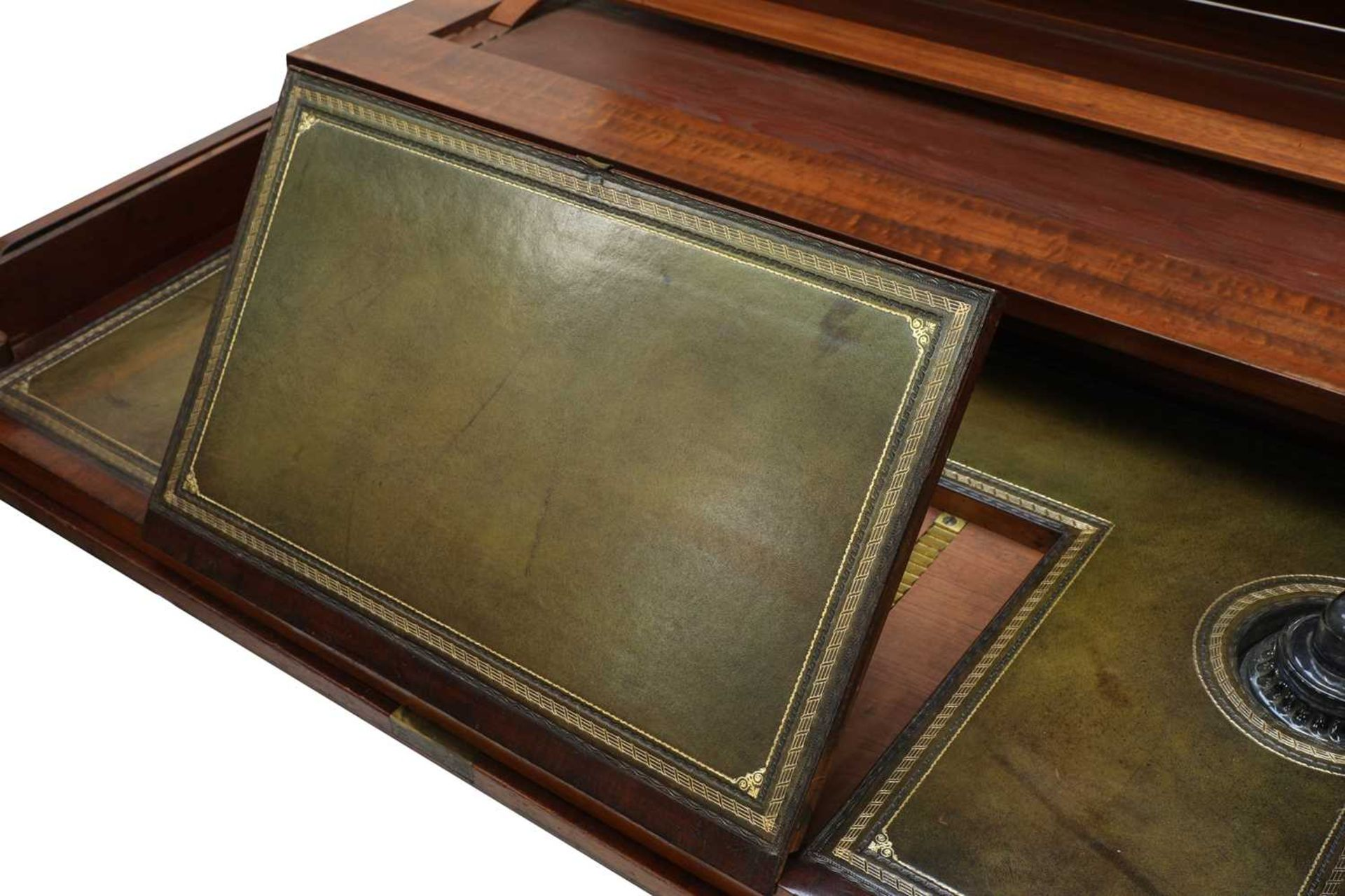 A George III mahogany architect's desk/secretaire, - Image 9 of 30