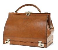 A good leather vanity handbag,
