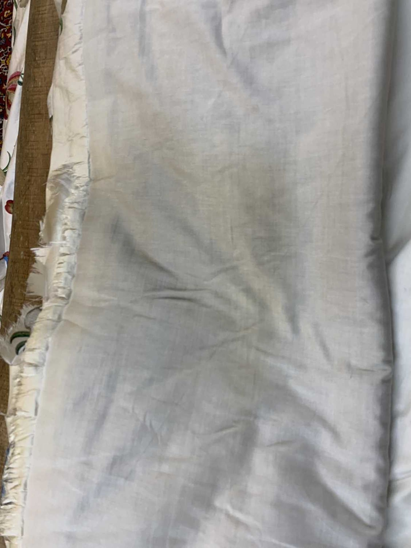 Three pairs of lined and interlined silk curtains, - Image 34 of 62
